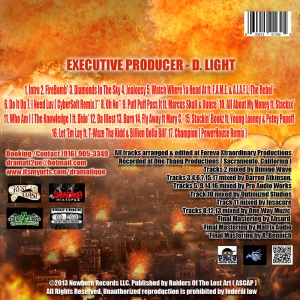 The Burn Mixtape CD Cover BACK ( 300 Dpi )